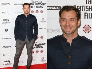 jude law con camisa cuello mao